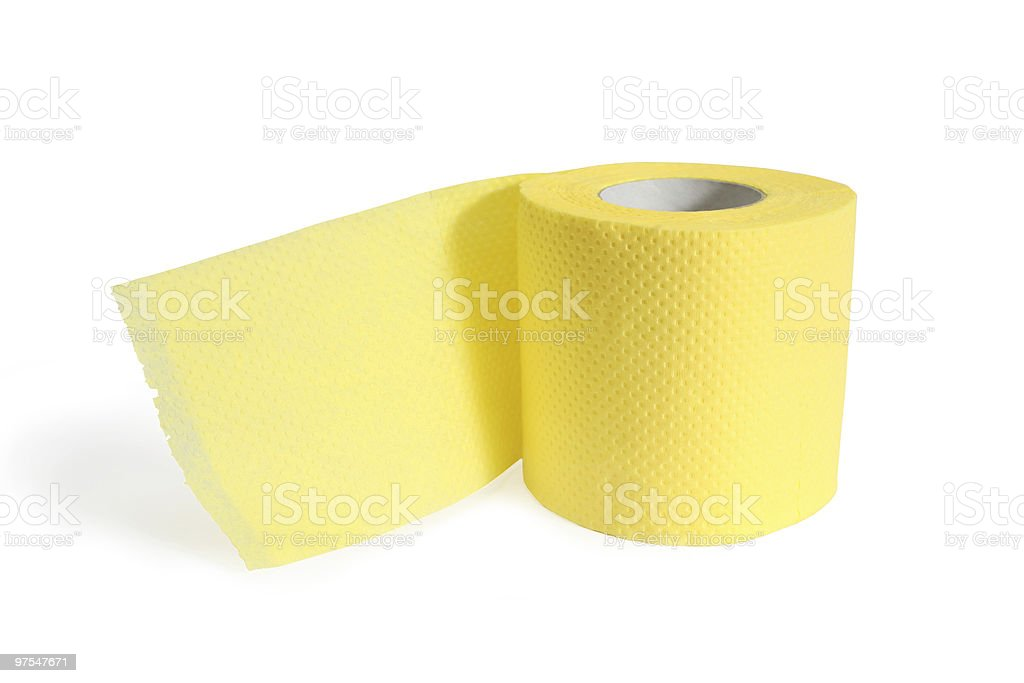 Yellow paper royalty-free stock photo