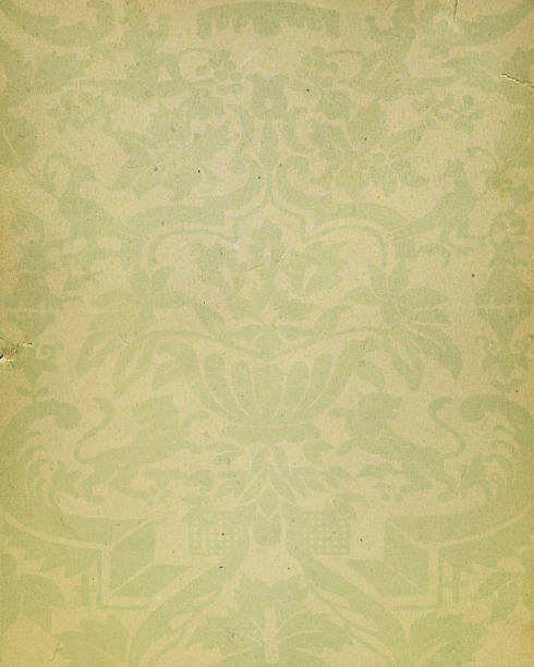 yellow paper with floral pattern - watermark stock photos and pictures
