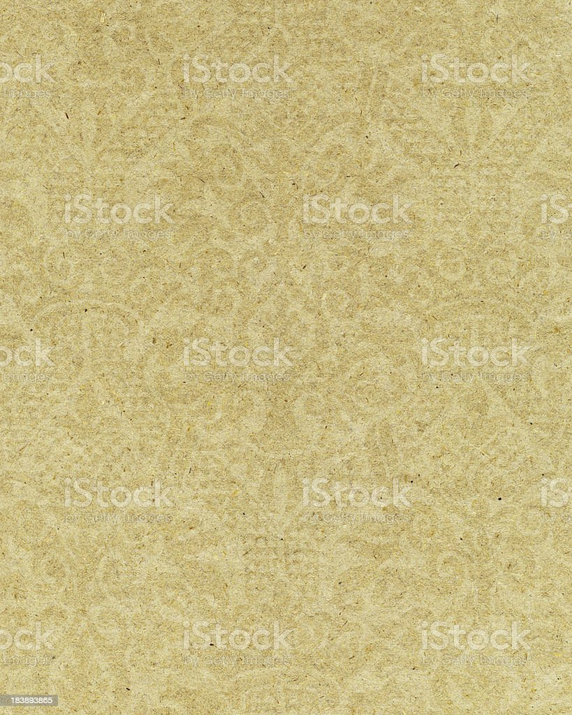yellow paper with ornamental pattern stock photo