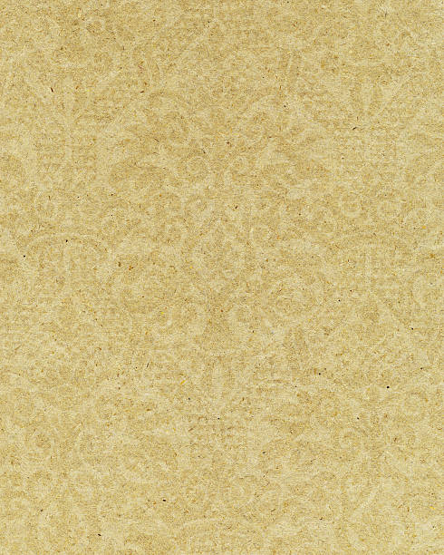 yellow paper with ornamental pattern - watermark stock photos and pictures