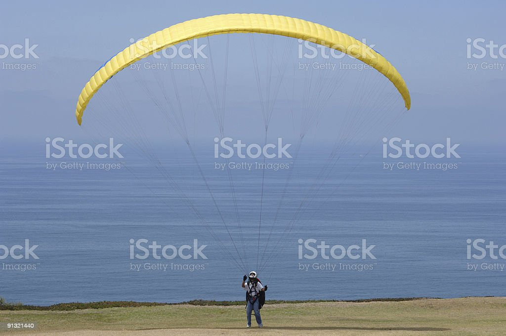 Yellow Parasail royalty-free stock photo