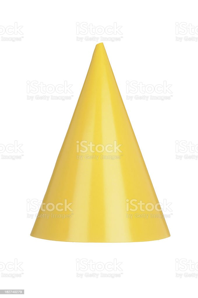 Yellow Party Hat royalty-free stock photo