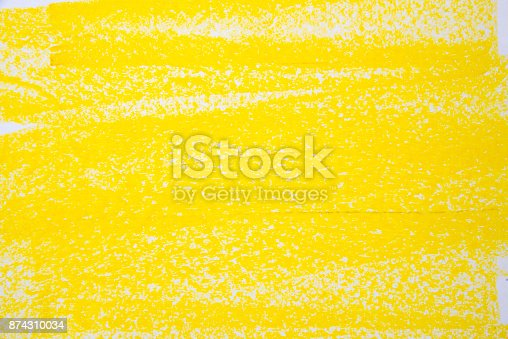 Yellow Pastel Drawing Background