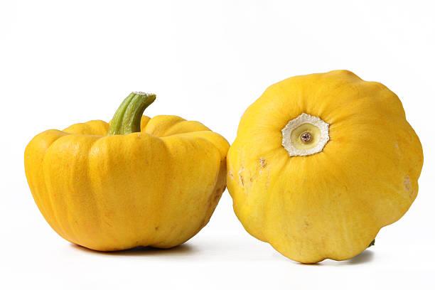 Gelbe patty pan squashes – Foto