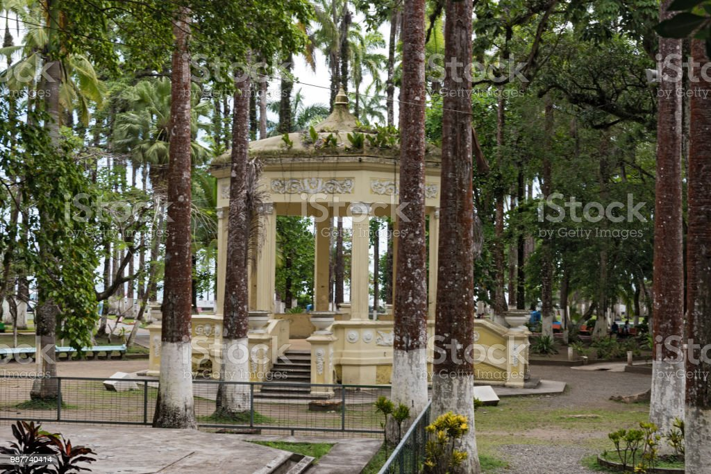 Yellow Pavilion In Parque Vargas City Park In Puerto Limon Costa Rica Stock Photo Download Image Now Istock