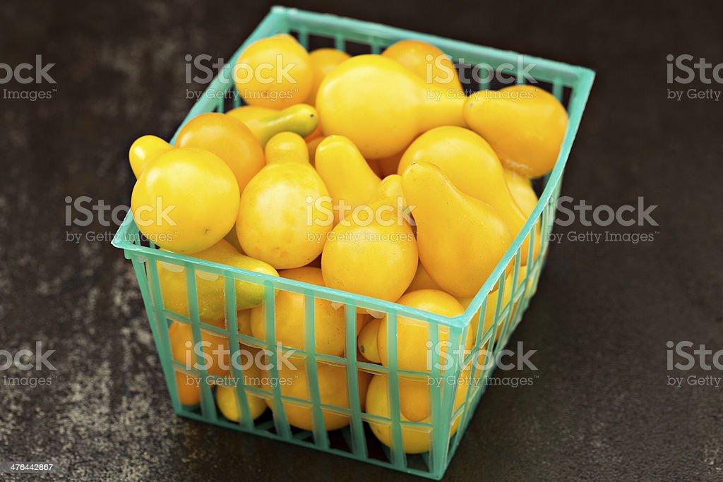 Yellow Pear Cherry Tomatoes stock photo