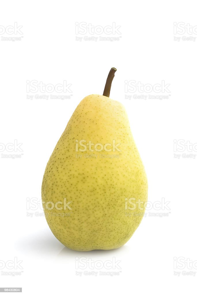 Yellow pear isolated on white royalty-free stock photo