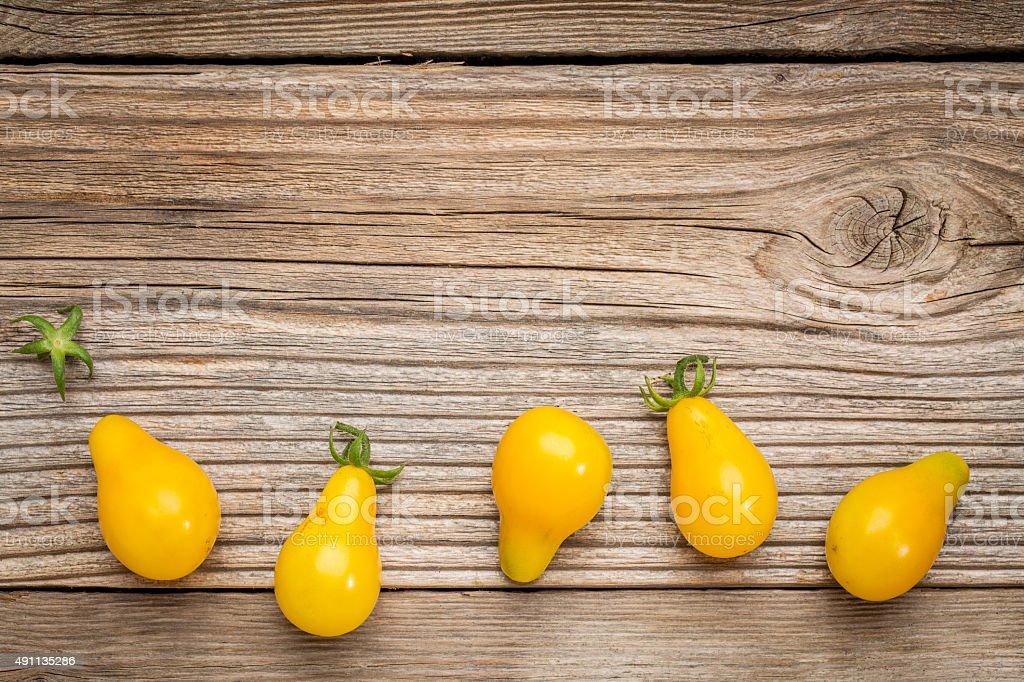 yellow pear tomato stock photo