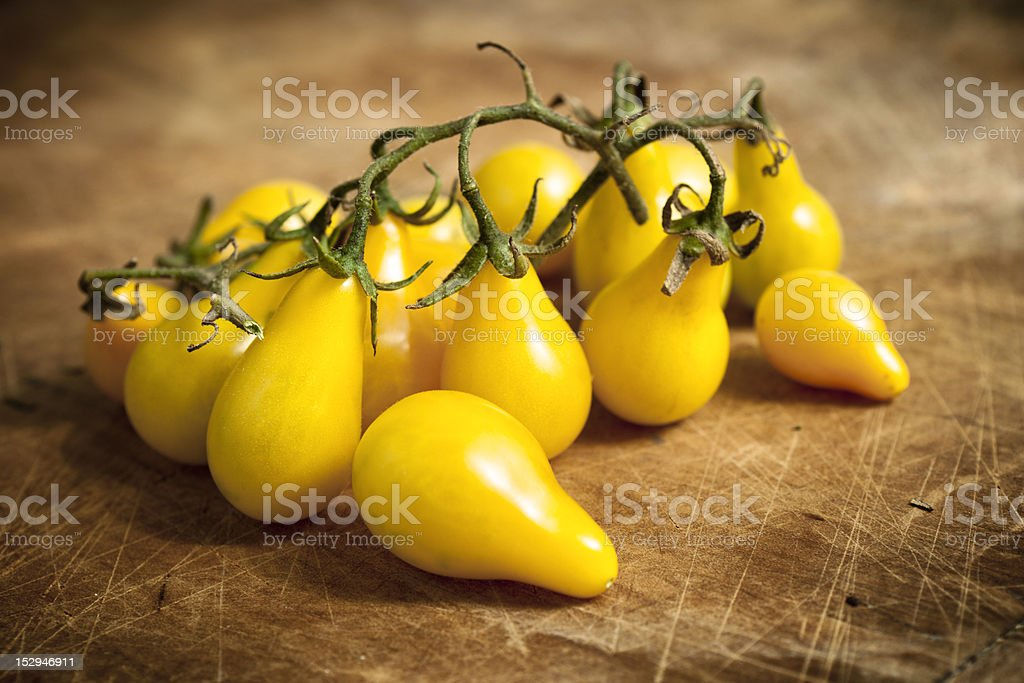 Yellow Pear Tomatoes stock photo