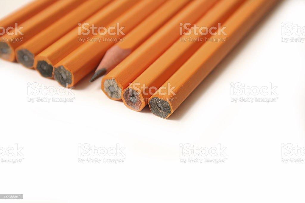 Yellow Pencils royalty-free stock photo