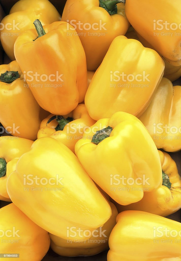 yellow peppers royalty-free stock photo