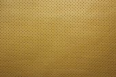 Yellow perforated leather texture background