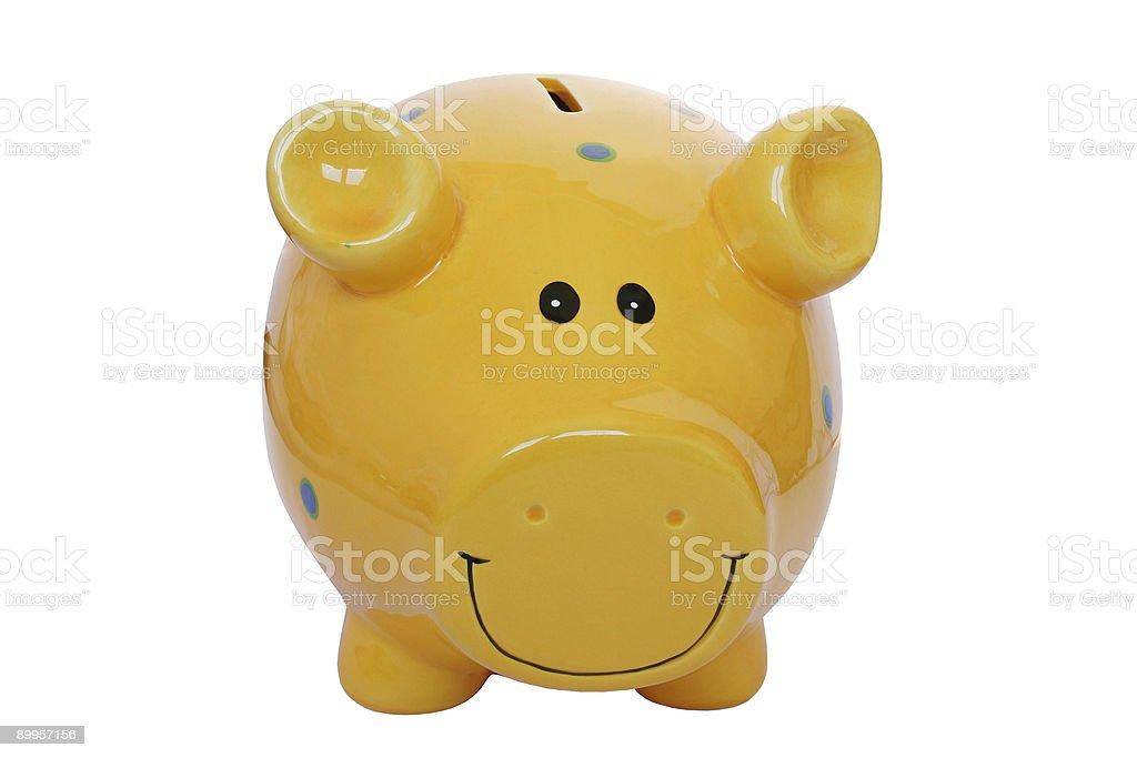 Yellow Piggy Bank royalty-free stock photo