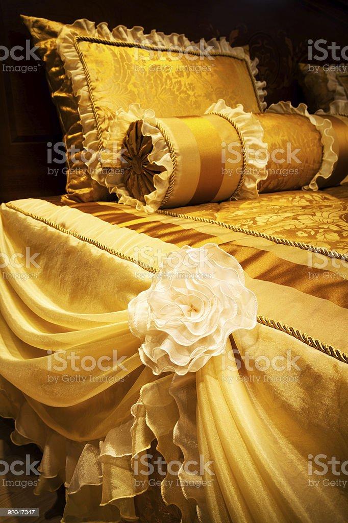 yellow pillows royalty-free stock photo