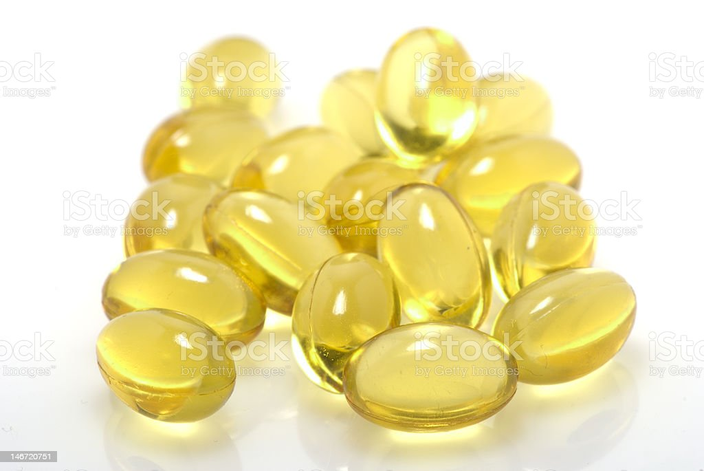 Yellow pills royalty-free stock photo