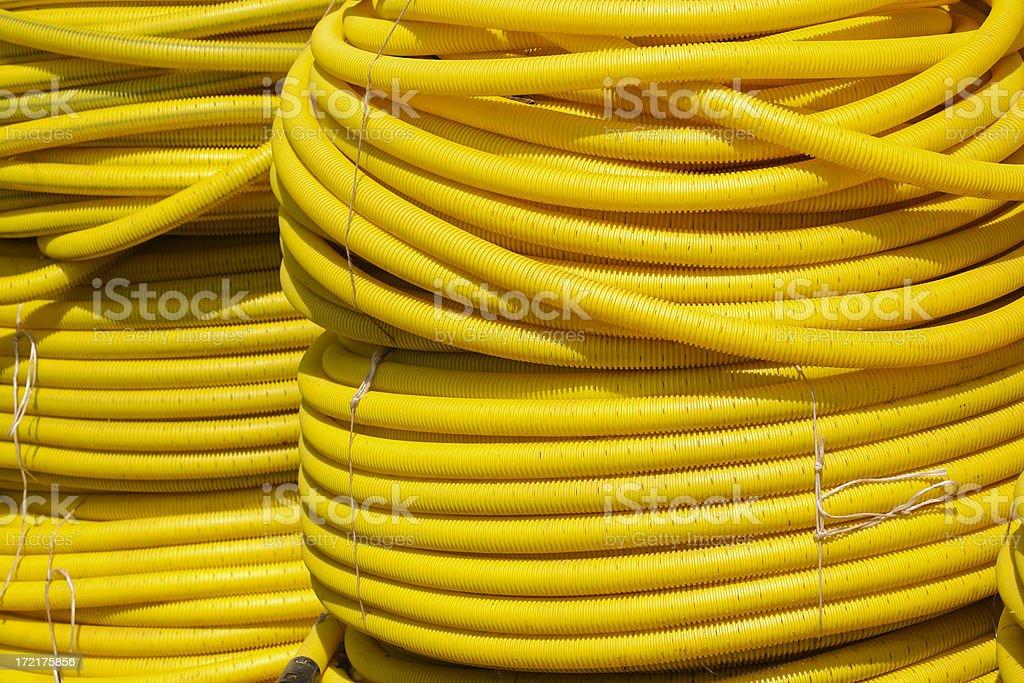 yellow piping royalty-free stock photo