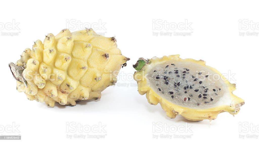 Yellow Pitaya from South America royalty-free stock photo