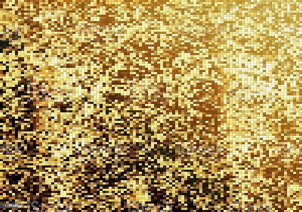 Yellow pixel background royalty-free stock photo