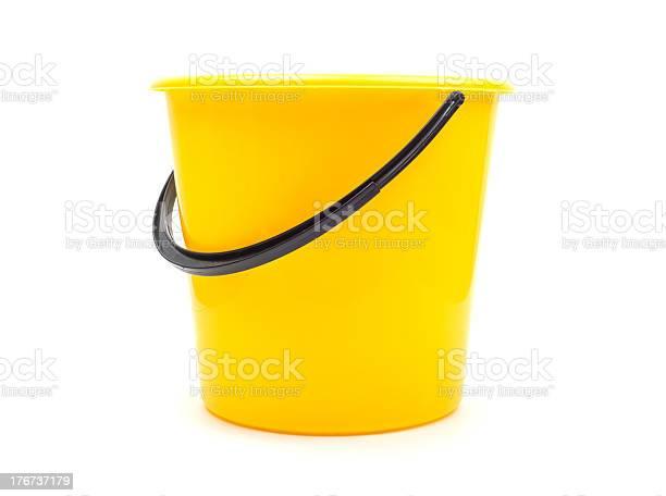 Yellow Plastic Bucket Stockfoto en meer beelden van Afval