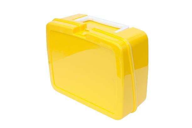 yellow plastic lunchbox - lunchlåda bildbanksfoton och bilder