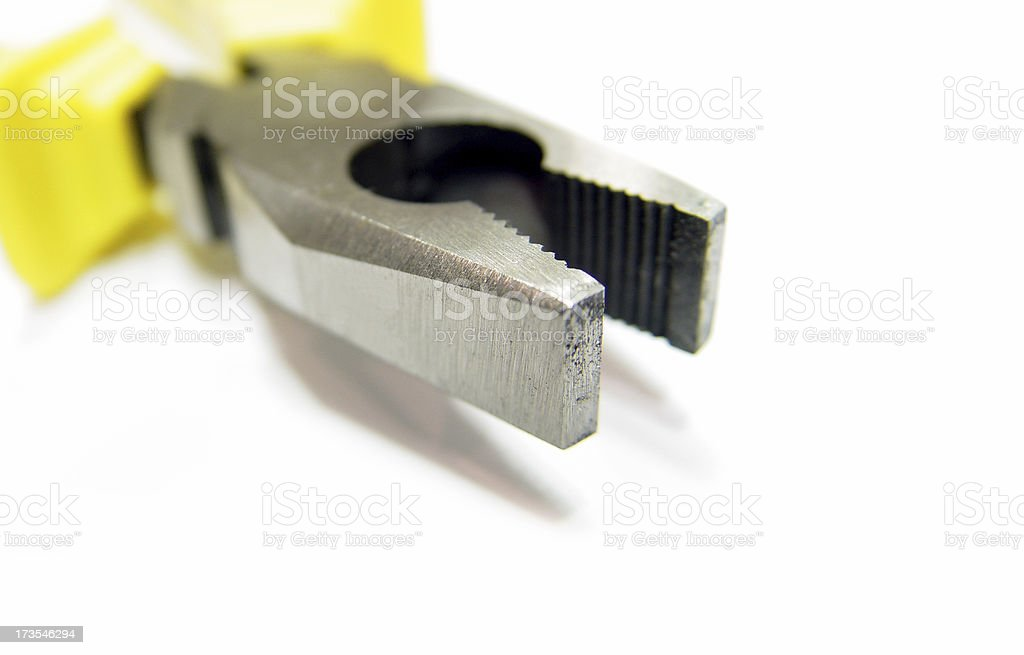 yellow pliers royalty-free stock photo