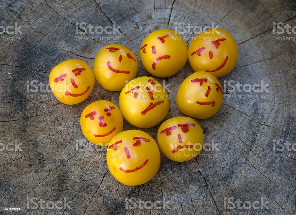 yellow plums like emoticons royalty-free stock photo