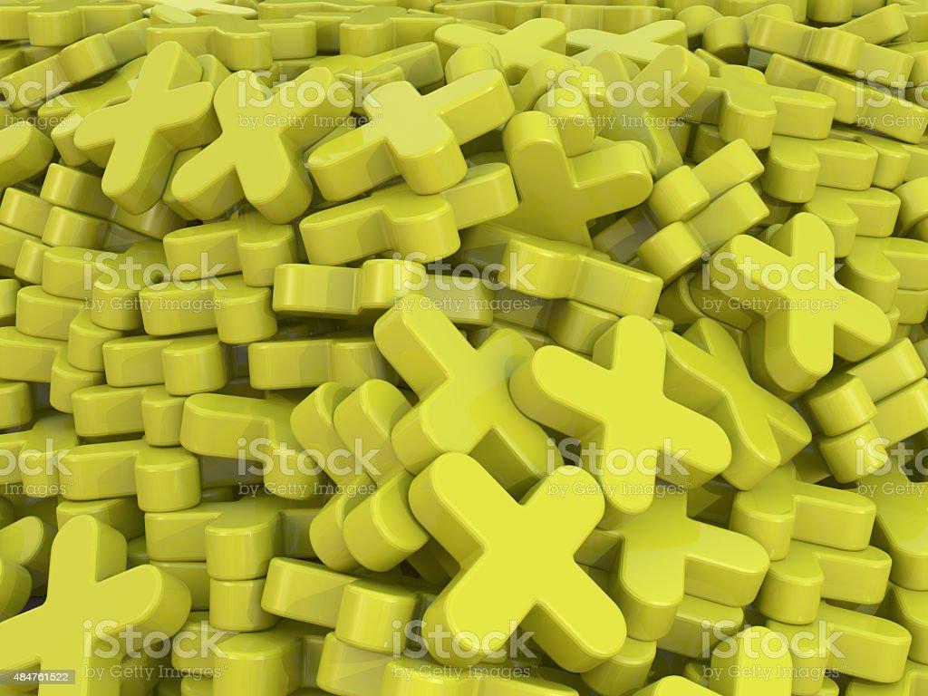 yellow plus background stock photo