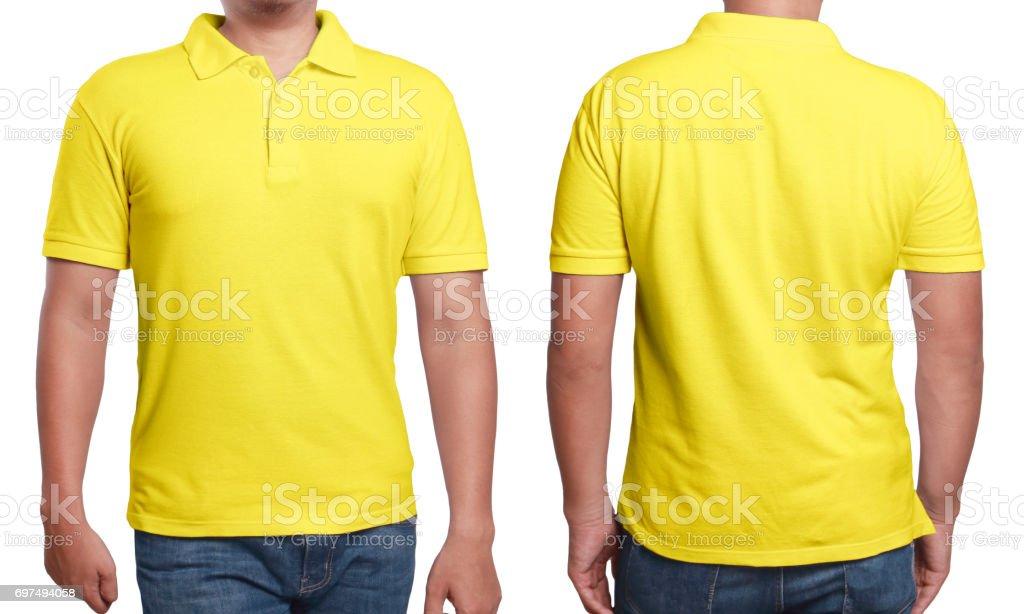 Plantilla De Diseño De Camisa Polo Amarilla - Fotografía de stock y ...