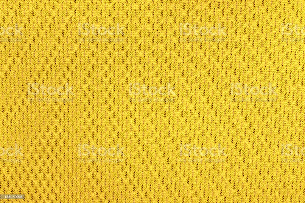 yellow polyester nylon sportswear texture. stock photo