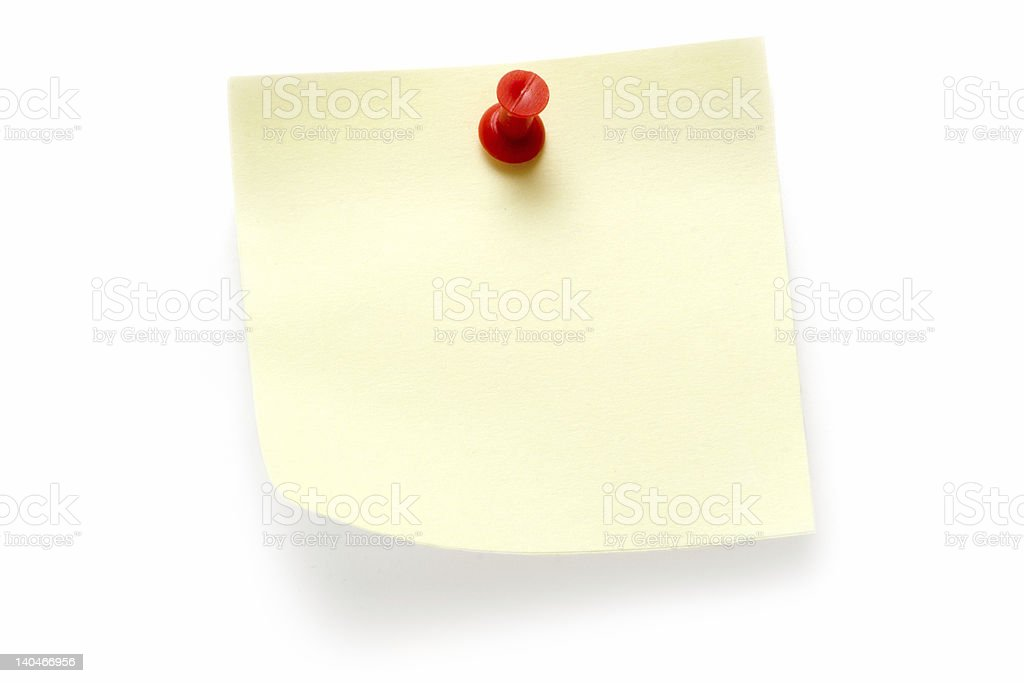 Yellow Post-it royalty-free stock photo