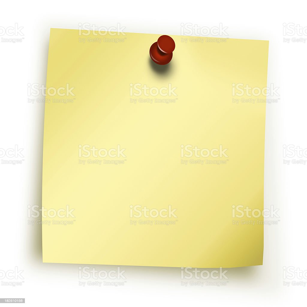 yellow postit royalty-free stock photo