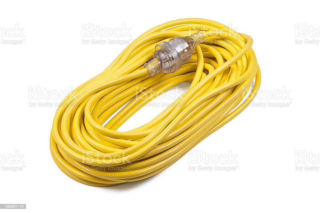 Yellow Power Cord royalty-free stock photo