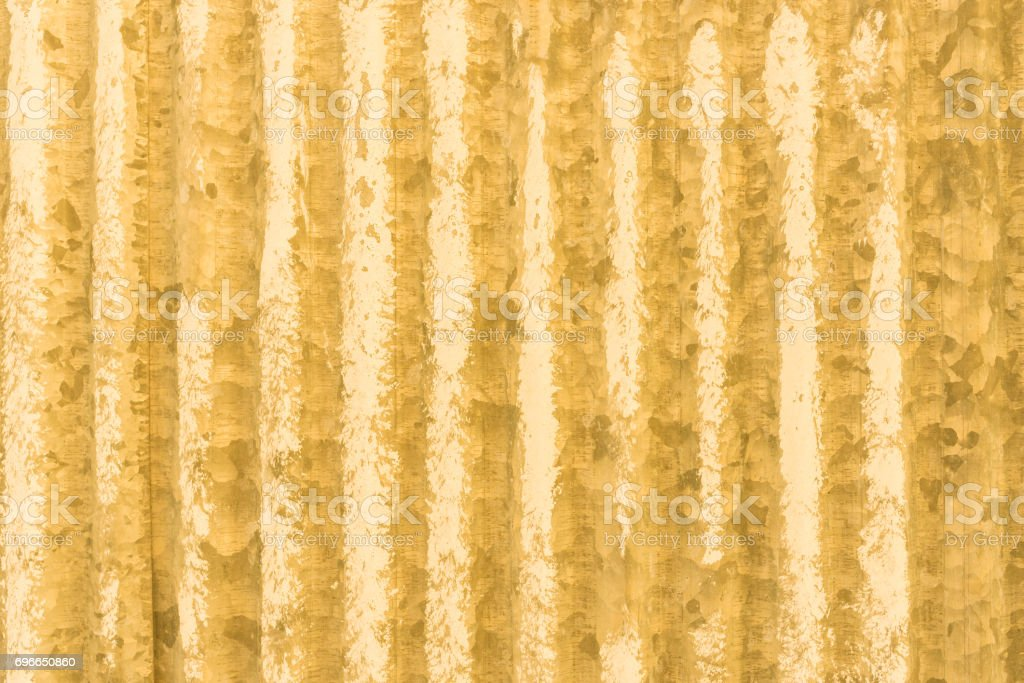Yellow prong beeline galvanized iron with rust abstract wallpaper stock photo