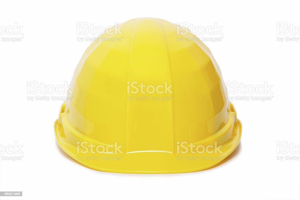 yellow protective helmet royalty-free stock photo