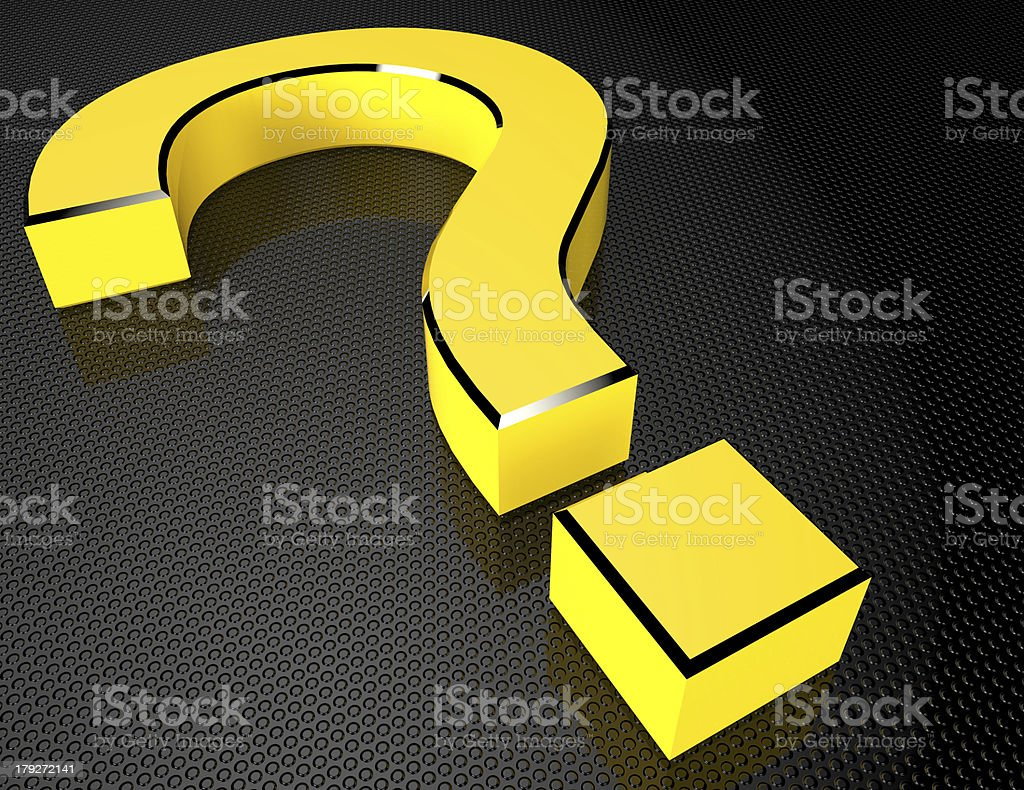 Yellow Question Mark royalty-free stock photo