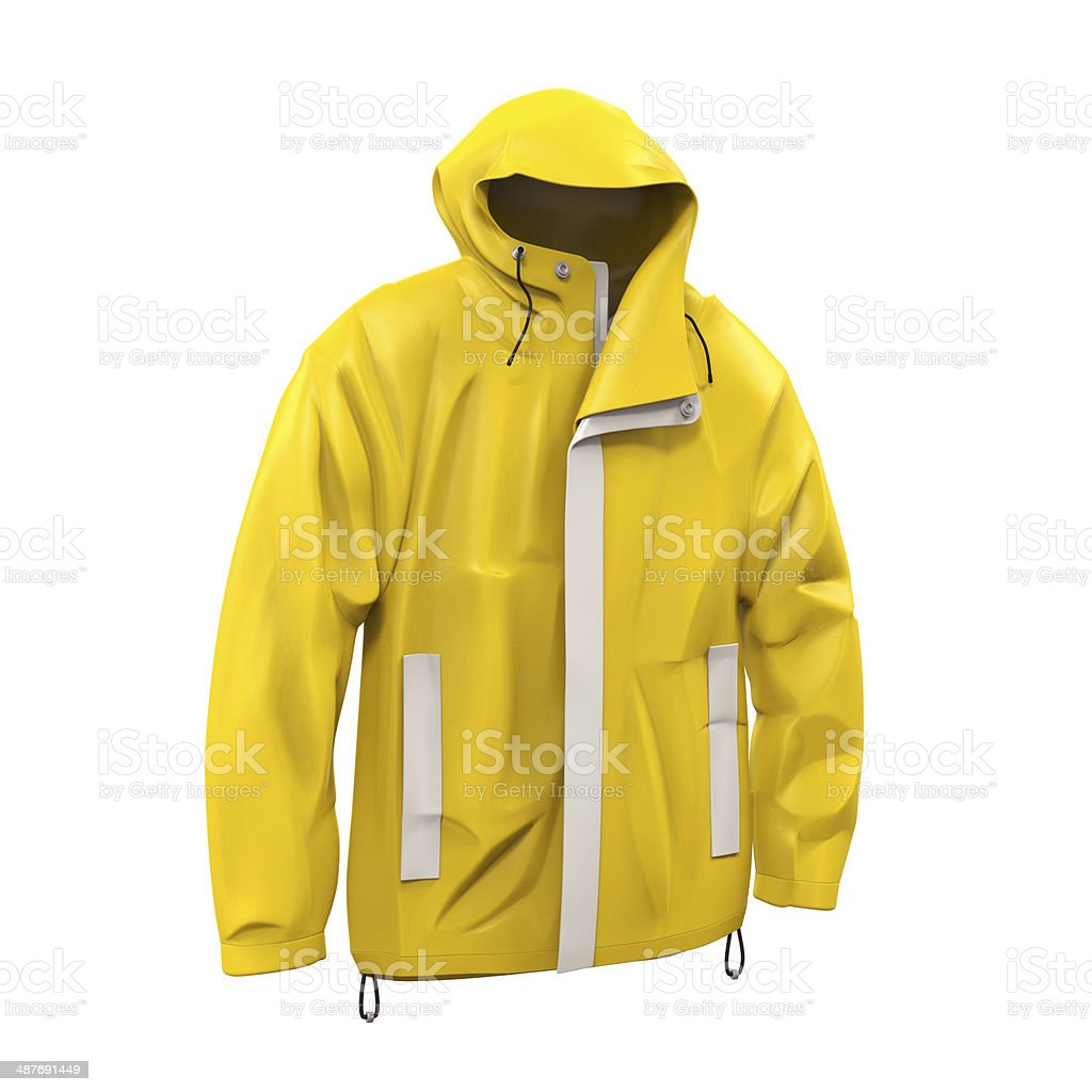 Yellow Rain Coat royalty-free stock photo
