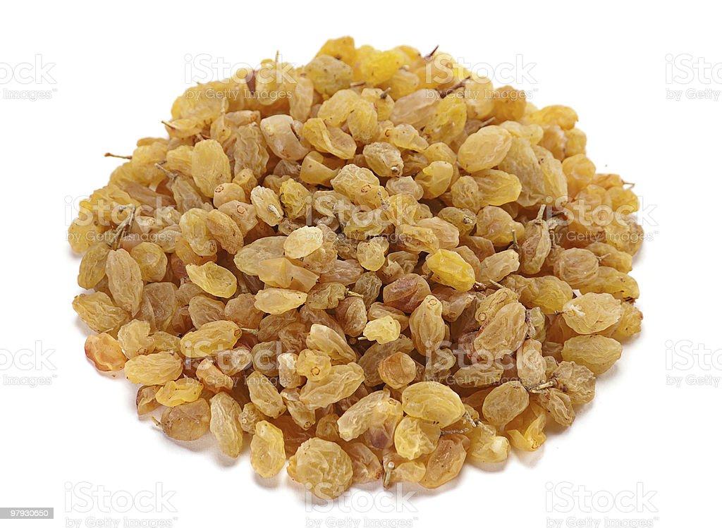 Yellow raisin royalty-free stock photo