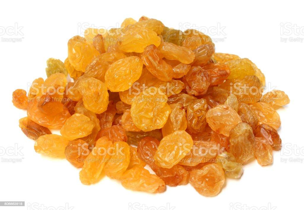 Yellow raisins stock photo