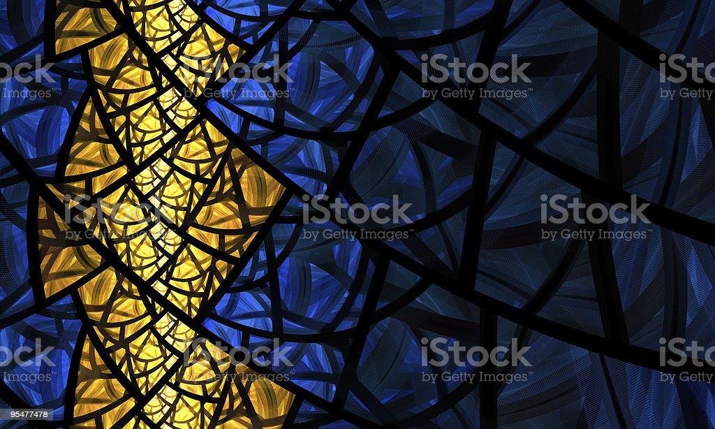 Yellow Rhombus  Abstract Stock Photo