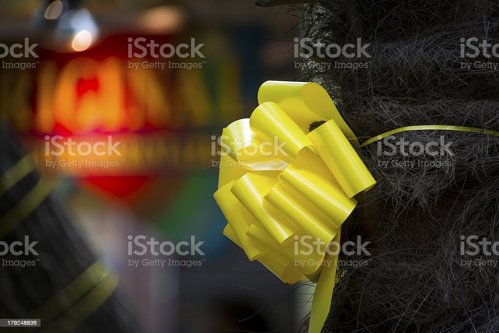 Yellow Ribbon Honoring Our  Troops stock photo