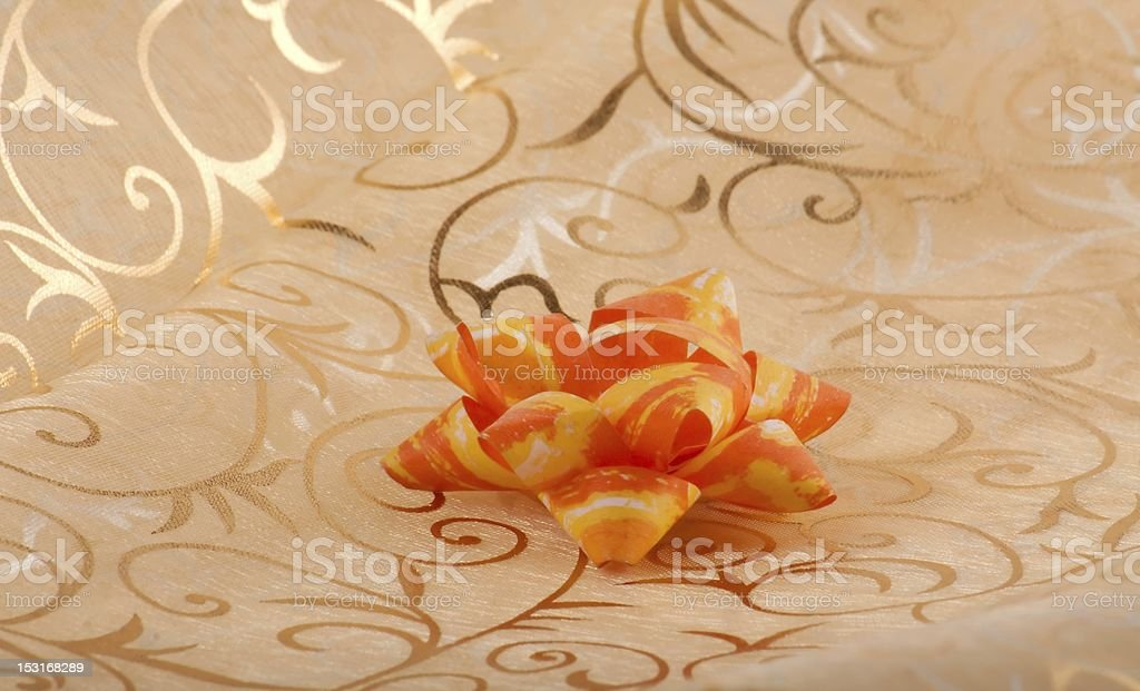 Yellow ribbon royalty-free stock photo