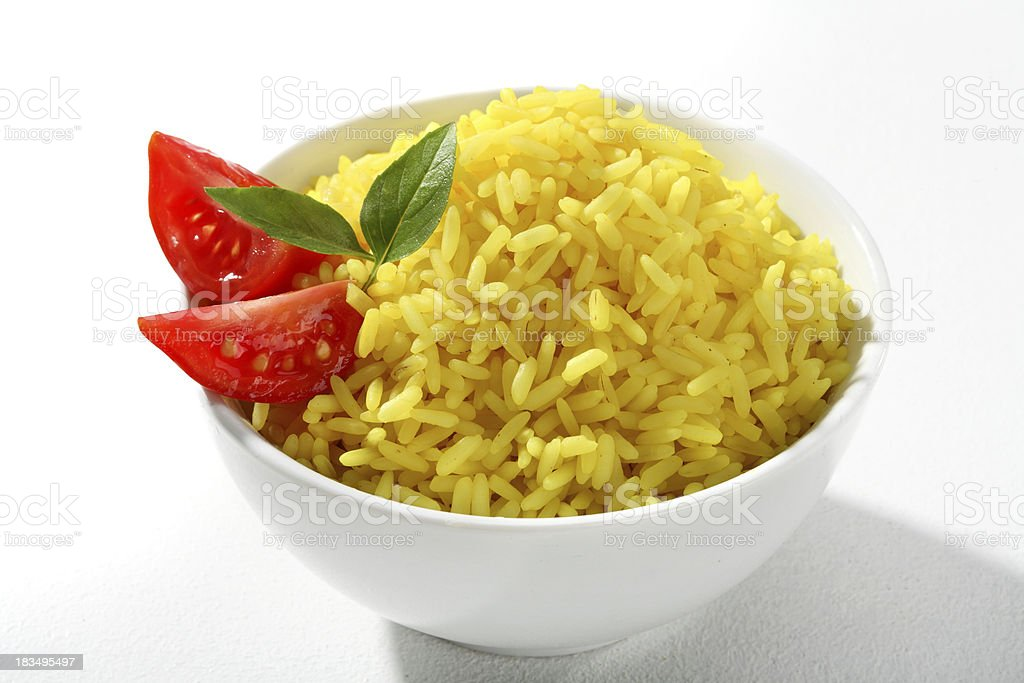 Yellow rice dish royalty-free stock photo