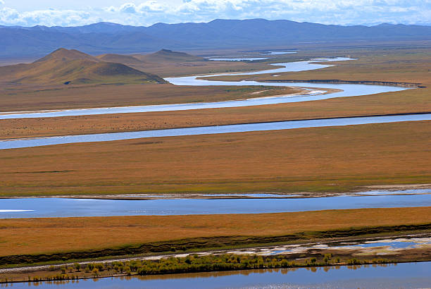 Yellow River stock photo