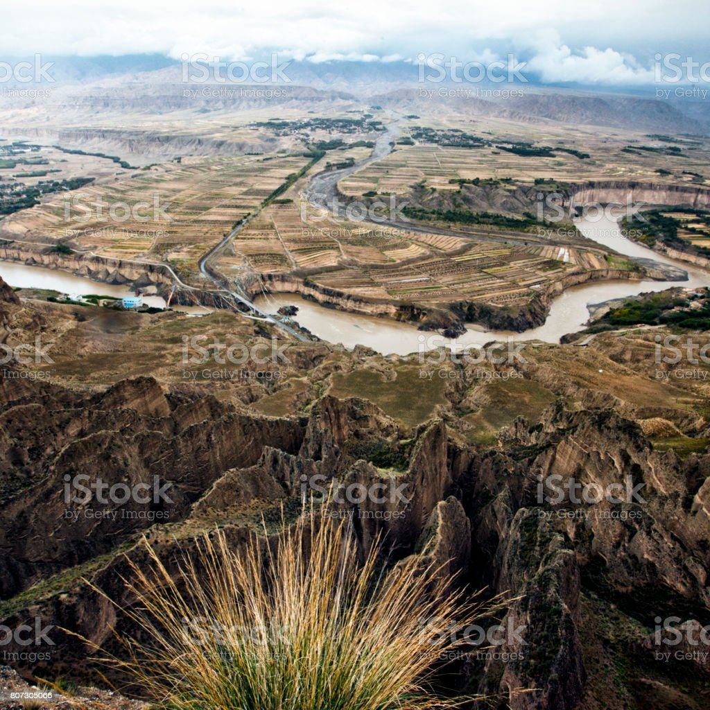 Yellow river stock photo