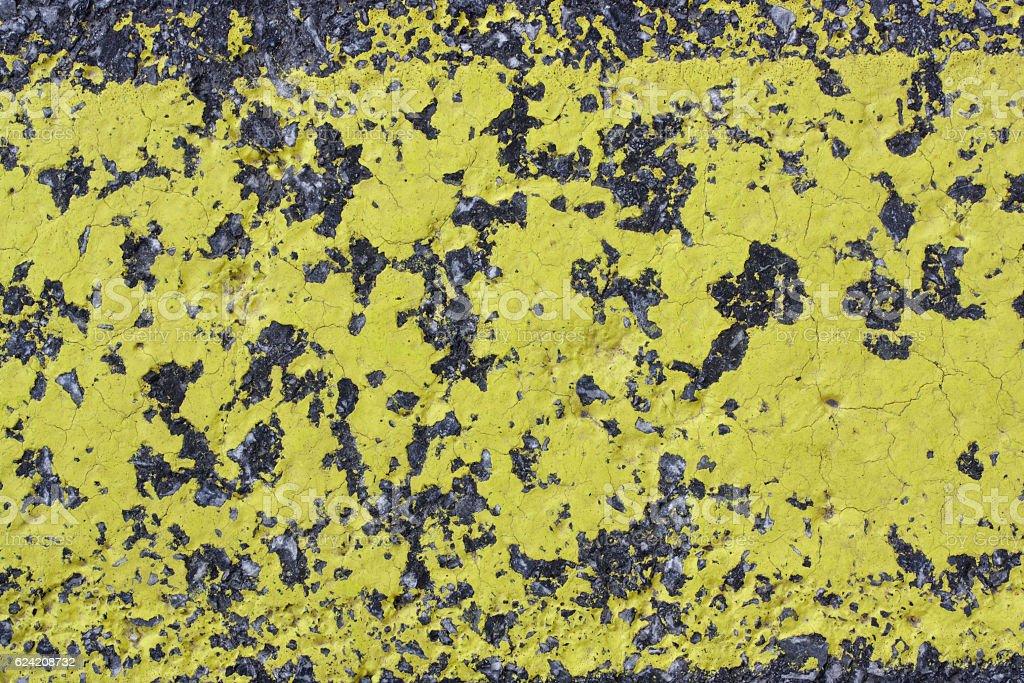 Gelber Straßenbelag stock photo