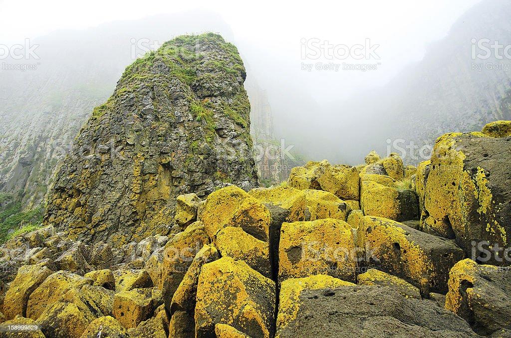Yellow rocks royalty-free stock photo