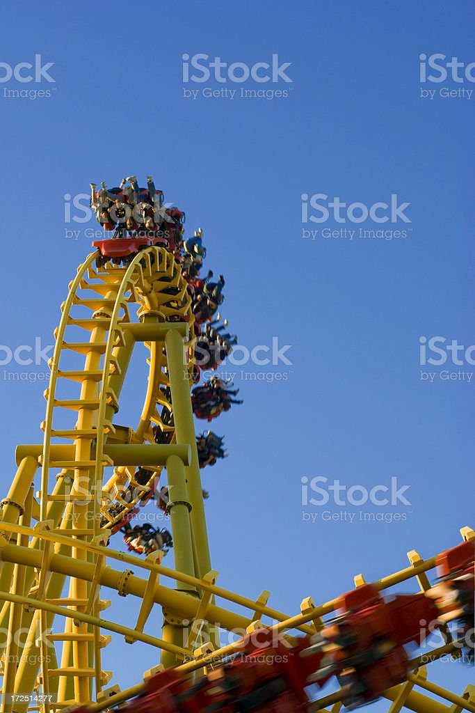 Yellow Rollercoaster 11 royalty-free stock photo