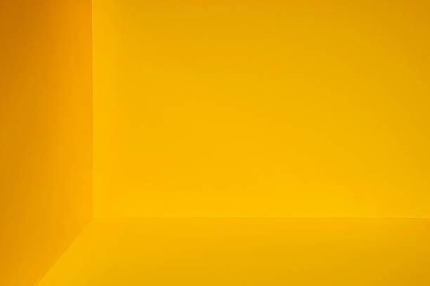 Yellow room corner ストックフォト
