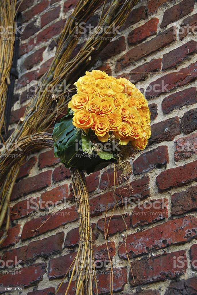 Yellow roses decoration royalty-free stock photo