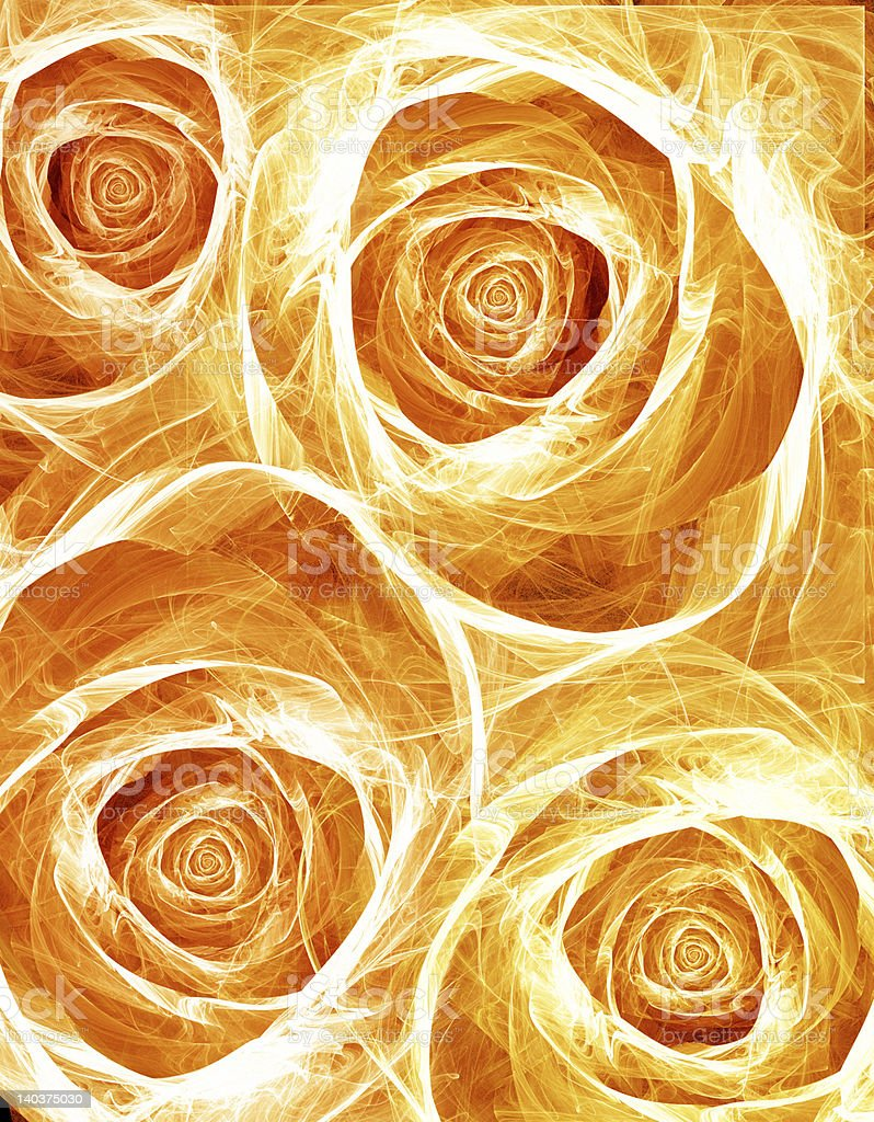 Yellow roses ; Love royalty-free stock photo